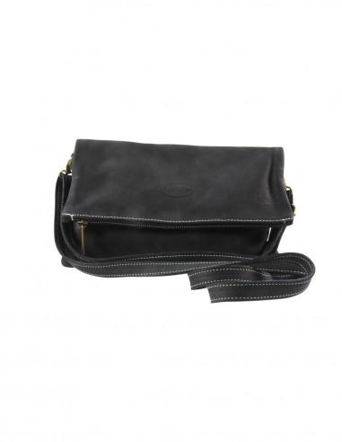 Shoulder bag black suede