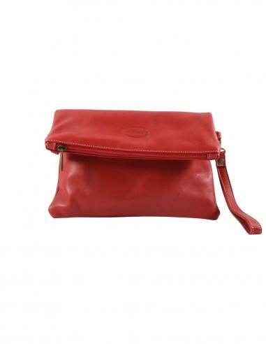 Shoulder bag leather red