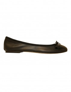 Flats - Black soft leather
