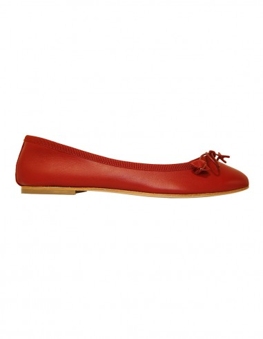 Flats - Red nappa leather