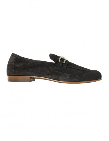 Loafer - with buckle - Chamois dark blue