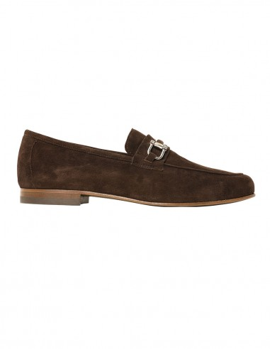 Loafers - with buckle - Chamois brown