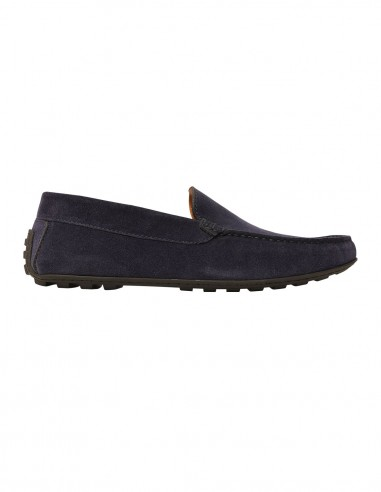 Loafers - Velour chamois blue
